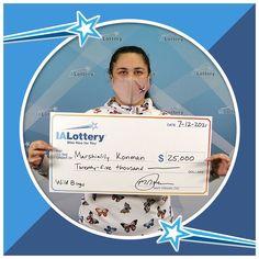 "Marshialily Konman of #Ottuma claimed a $25,000 top prize she won playing the ""Wild Bingo"" scratch game. Congrats! #WooHooForYou Marshialily purchased her ticket at Iowa Liquor & Tobacco, 1021 E. Main St. in #Ottuma. Thousand Dollars, Five Thousand, Winning The Lottery, I Win, Bingo, The Twenties, Pinch Me, Ticket, Liquor"