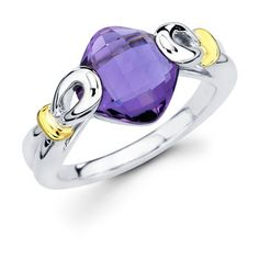 sterling/18 carat amethyst ring by Ostbye