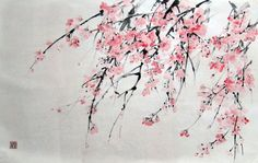 japanese paintings of cherry blossoms - Google Search