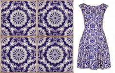 Blue and White Portuguese Tiles and a Dress