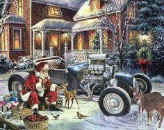Even Santa rolls a rod