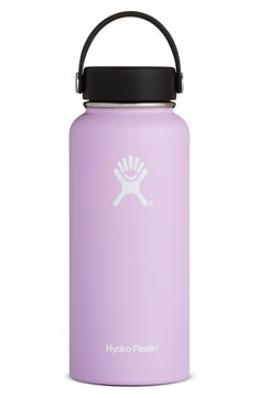 Hydro Flask Water Bottle - Stainless Steel & Vacuum Insulated - Wide Mouth with Leak Proof Flex Cap - 32 oz, Lilac Hydro Flask Water Bottle, Stainless Water Bottle, Bottle Bottle, Vsco, Coffee Shops, Stainless Steel Growler, Cute Water Bottles, Swell Water Bottle, Drink Bottles