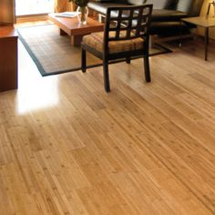 For a visually textured look, go for bamboo flooring with very thin panels.