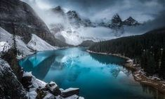 The 60 breathtaking finalists in the Smithsonian 2020 photo contest - Above, a panoramic picture of Moraine Lake in the Banff National Park, Canada. The image is titled - Lago Moraine, Tornados, Spongebob, Banff National Park, National Parks, Smithsonian Photo Contest, Colombian Cities, Vietnam, Fair Rides