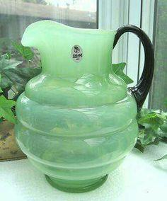 Fenton green jadeite pitcher - Gorgeous ✪ _/\_ ○○○❥ڿڰۣ-- […] ●♆●❁ڿڰۣ❁ ஜℓvஜ ♡❃∘✤ ॐ♥.