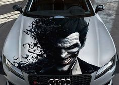 21b5afa0ed0791 Details about Joker  2 Car Hood Wrap Full Color Vinyl Sticker Decal Fit Any  Car