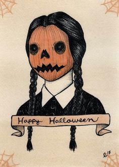 Wednesday (Pumpkin head) Addams