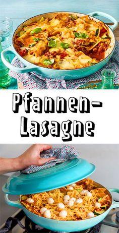Diese Lasagne musst du unbedingt ausprobieren! Die #Pasta gart ganz unkompliziert in der Pfanne!