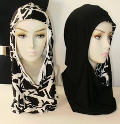 Hoodjabi+hijab+niqab+scarf+infinity+scarf+hood+abaya+by+AudraSabir,+$35.00
