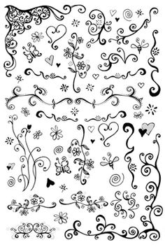 Swirly Doodles ~ ideas for some clever accents or corners