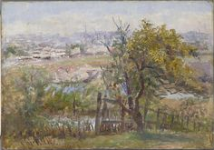 Richmond from Kensington Road, South Yarra (1908):   Frederick McCUBBIN   (Australian. February 1855 Melbourne, Victoria Died December 1917