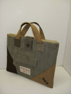 Suit Coat Bag Inspiration - great way to reuse and repurpose!