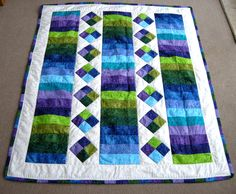 Jelly Roll Quilt - Katherine's Dabblings - I love the colors