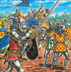 French knights during the Hundred Years War