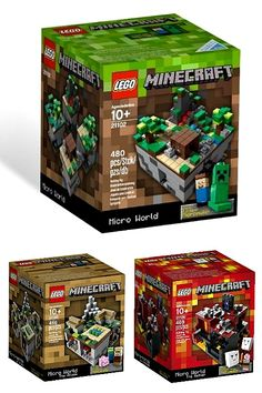 Minecraft Legos. just wait 'til my boys find out....