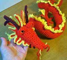 free crochet dragon patterns | And there also be Dragons here…