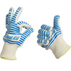 Grill Heat Aid, Heat Resistant Gloves, 932°F EN407 Certified, Thick but Light-Weight & Flexible for Oven and BBQ, 2 Gloves >>> Read more  at the image link.