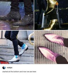 I wish I had the confidence to wear boots like Harry's.
