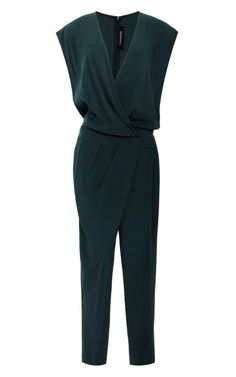 Satin-Back Crepe Cross Front Jumpsuit by Thakoon for Preorder on Moda Operandi