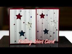 Falling Stars Card - Giggles Creative Corner