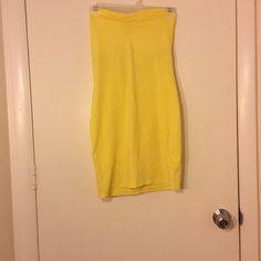 Tube top dress Yellow tube top dress H&M Dresses Strapless