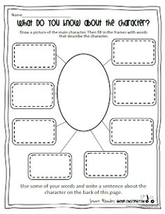 Nice Peterson s Pad Smart Readers Under Construction Character Map Also has a great Did You Know Worksheet for Non Fiction Text in Characterization Worksheet Reading Strategies, Reading Skills, Reading Comprehension, Reading Activities, Comprehension Strategies, Guided Reading, Teaching Language Arts, Teaching Writing, Student Teaching