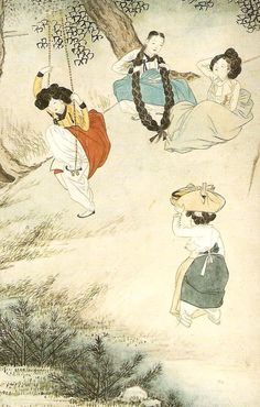 그림과 글이 있는 블로그 | 혜원 그림의 진면목을 감상하세요 Korean Traditional, Traditional Art, Korean Illustration, Asian Artwork, Korean Painting, Comic Pictures, T Art, Korean Art, Old Paintings