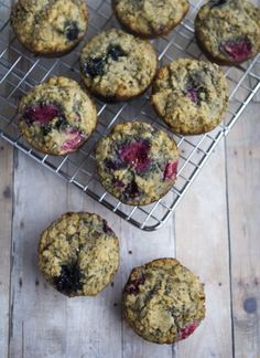 Coconut Flour Berry Chia Muffins | fastPaleo Primal and Paleo Diet Recipes