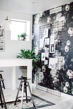 Black and white and floral