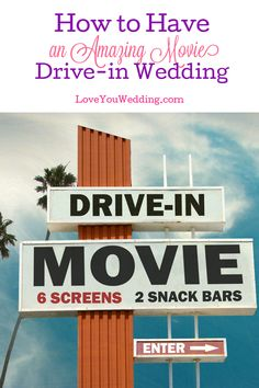 Wedding plans cancelled due to unforeseen events? Convert it to a drive-in movie wedding! It's unique, fun, and easy to pull off. Here's how! Movie Theater Wedding, Movie Wedding, Wedding Scene, Wedding Story, Wedding Tips, Wedding Planning, Wedding Details, Wedding Gowns, Dream Wedding