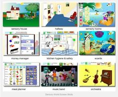 Pinterest Therapy Resource of the Week – 'Sensory World' Interactive Website - - Pinned by #PediaStaff.  Visit http://ht.ly/63sNt for all our pediatric therapy pins