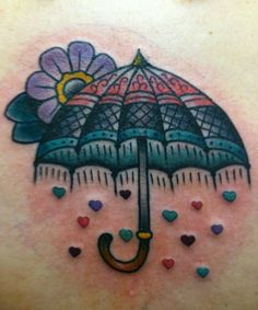 Love my new umbrella tattoo!   Done by Carrie Clarke @ Queen City in Terre Haute, IN