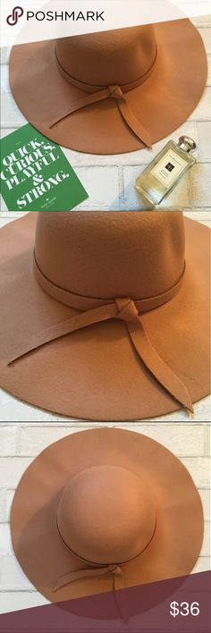 """{One Day Sale} Camel Boho Floppy Panama Felt Hat Brand new Boho Felt Panama Floppy Hat. Measurements: Base 16"""" Brim 4 1/2"""" Material: 100% wool Please ask all questions before buying. I try to describe all items as acutely as possible, but if I missed something please let me know so we can resolve it before leaving <5 ⭐️ Rating. Thank you and happy poshing! ✨ GlamVault Accessories Hats"""