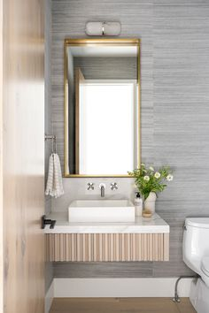 PC Contemporary Project: Office Mudroom & Laundry Room Downstairs Bathroom, Small Bathroom, Master Bathroom, Bathrooms, Bathroom Ideas, Mudroom Laundry Room, Powder Room Design, Studio Mcgee, Bathroom Inspiration