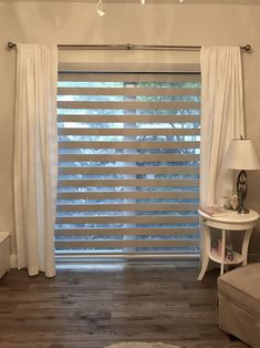 one piece Zebra Illusion DimOut Shades Patio Door Blinds, Blinds For Windows, Curtains With Blinds, Window Blinds, Zebra Shades, Dressing Room Decor, Modern Window Treatments, Bedroom Bed Design, Shades Blinds