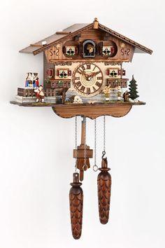 Black-forest-German-Musician-Band-cuckoo-clock-quartz