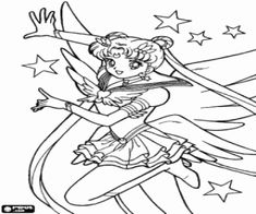 Sailor Moon Is Serena Tsukino Coloring Page