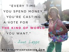 So important! Each and every day we can all make a difference. #ethicalfashion #stoptraffickfashion #fairtrade