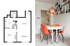 Vivienda pequeña de estilo nórdico  #decoración #hogar #estilonórdico #escandinavo www.hogardiez.com.es