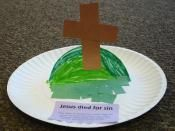Easter pop-up cross from The SEEDS Network seed network, easter, 3d craft, seeds, cross crafts, craft celebr