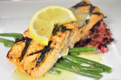 Grilled Atlantic Salmon with Dill Beurre Blanc Sauce