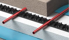 The metro rail underfloor heating system from Warmup is ideal for screed and concrete floors, helping to reduce your carbon footprint and save money Types Of Flooring, Diy Flooring, Flooring Options, Electric Underfloor Heating, Underfloor Heating Systems, Screed Floors, Concrete Floors, Radiant Heating System, Engineered Timber Flooring