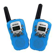 Retevis RT-388 Funkger�te f�r Kinder UHF 446.00625-446.09375MHz VOX 8CH mit LC-Display (2er Set, Blau)
