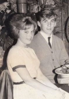"""Jodi Gable and Dennis Wilson on a date. According to Jodi, """"This was my very first date. I was 13 years old. Dennis Wilson took me the The 7-Seas in Hollywood. This place had a live Tahitian Dancers dance as we ate. I was so scared I didn't eat at all! Denny used to tell people years later that I was one of this first girlfriends. Probably not but cute that he would say that..."""""""