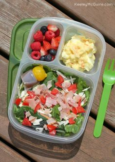 Work lunch for Mommy! Yummy chopped salad packed in @ EasyLunchboxes