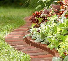 DIY Idea -Use Brick Edging for your garden #dan330 http://livedan330.com/2015/08/15/diy-ideas-use-bricks-garden-design/