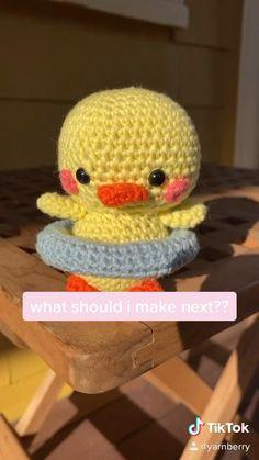 Crochet Patterns Amigurumi, Crochet Stitches, Knitting Patterns, Diy Crochet Projects, Crochet Crafts, Kawaii Crochet, Cute Crochet, 7 Seconds, Crochet Wool