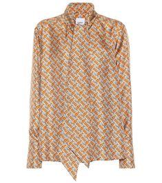 6b9e866d54 26 melhores imagens de Blusa de seda estampada