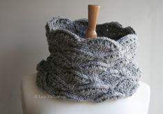 Crochet patterns girl women men lace cowl pattern by LuzPatterns
