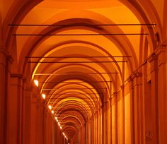 https://flic.kr/p/5x9XQT | the neverending portico | One of the many porticoes under which you can walk in Bologna for several kilometres.